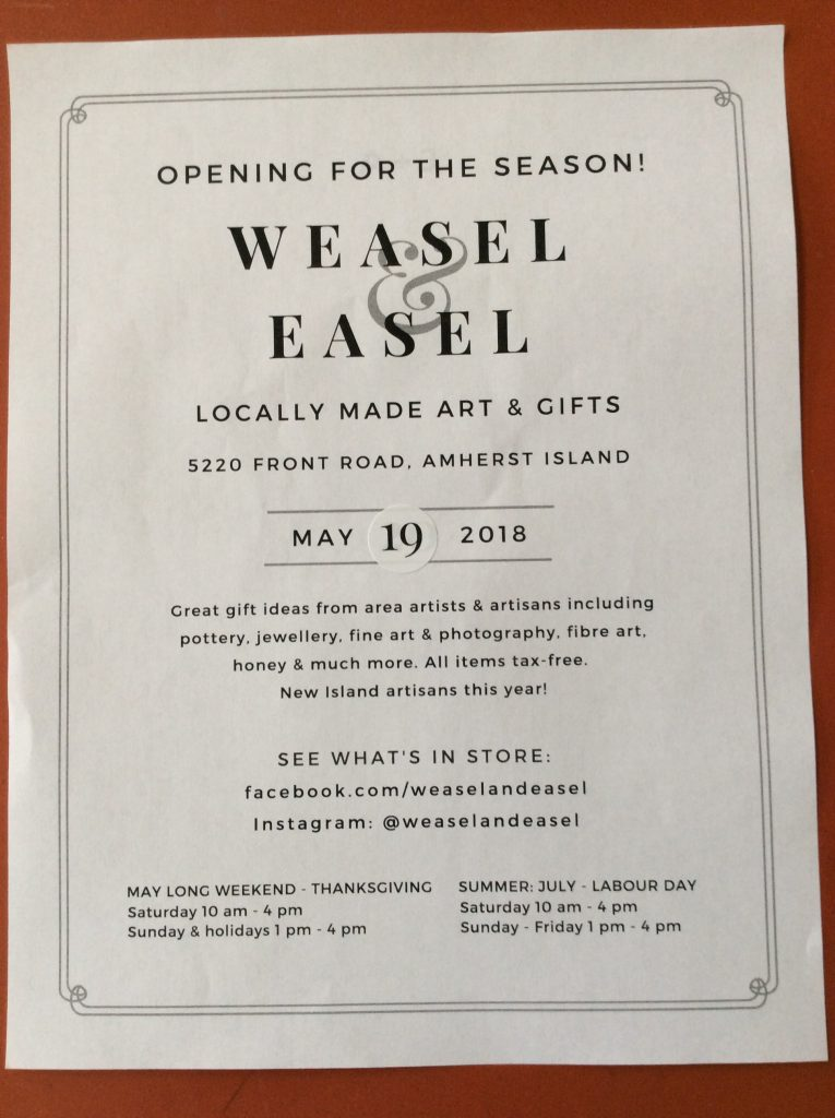 Weasel and Easel 2018 Opening @ Neilson Store Museum