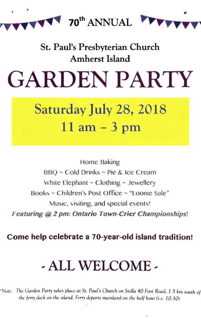 St. Paul's Garden Party @ St. Paul's