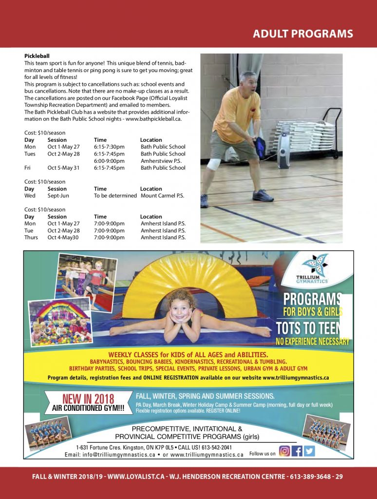 Pickleball @ Amherst Island Community Centre