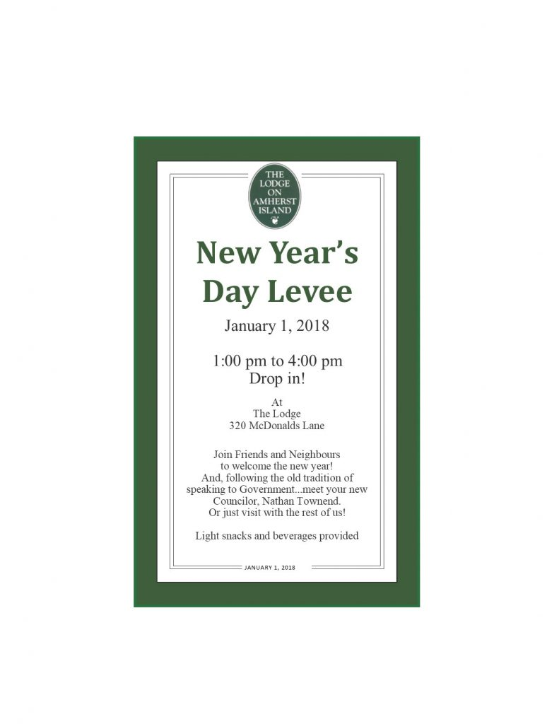New Year's Levee @ The Lodge