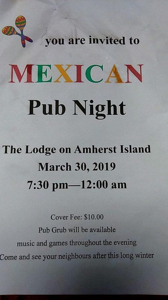 Pub Night @ The Lodge on Amherst Island