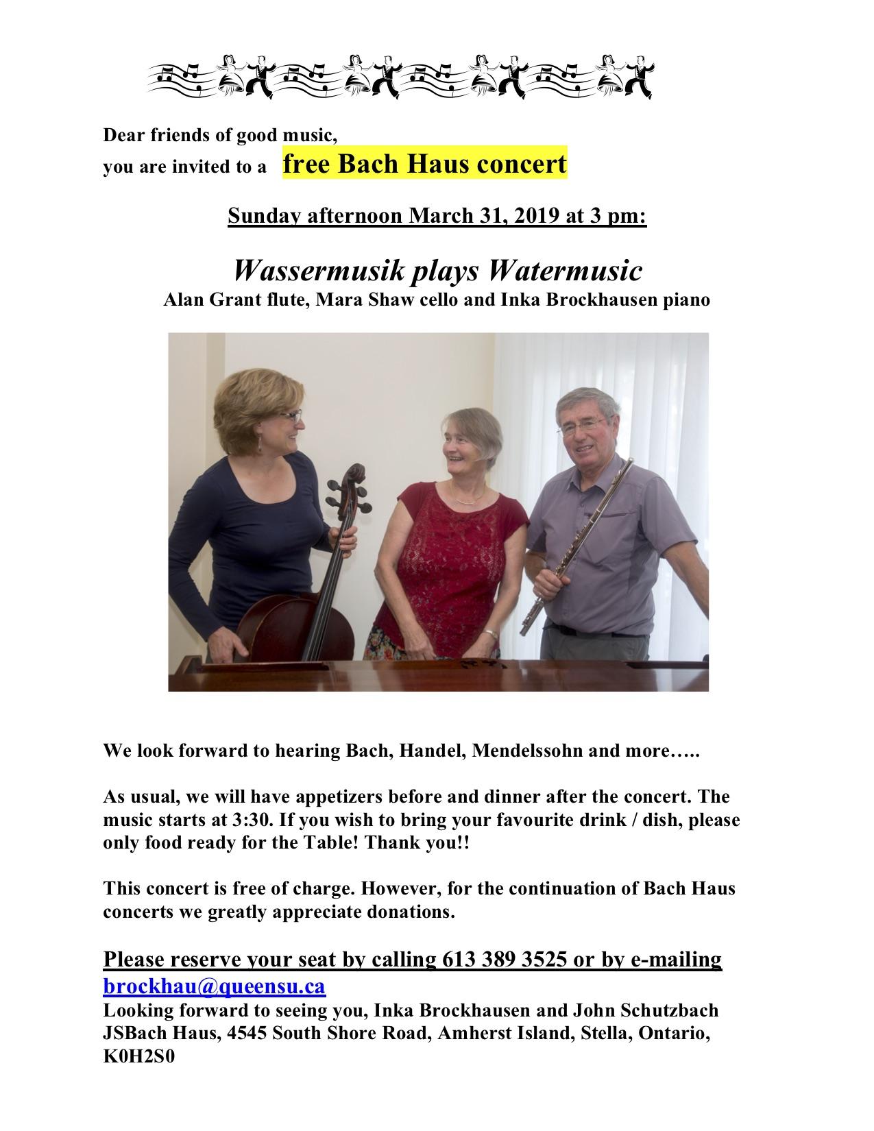 Bach Haus Concert @ Bach Haus