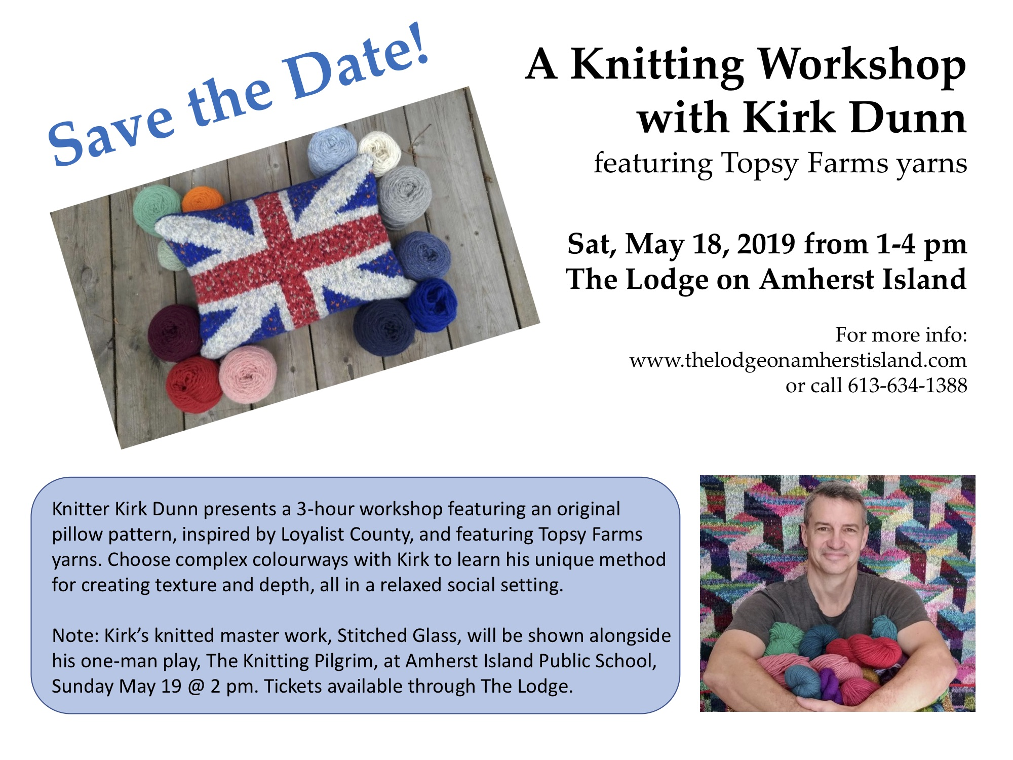 Knitting Workshop with Kirk Dunn @ The Lodge on Amherst Island
