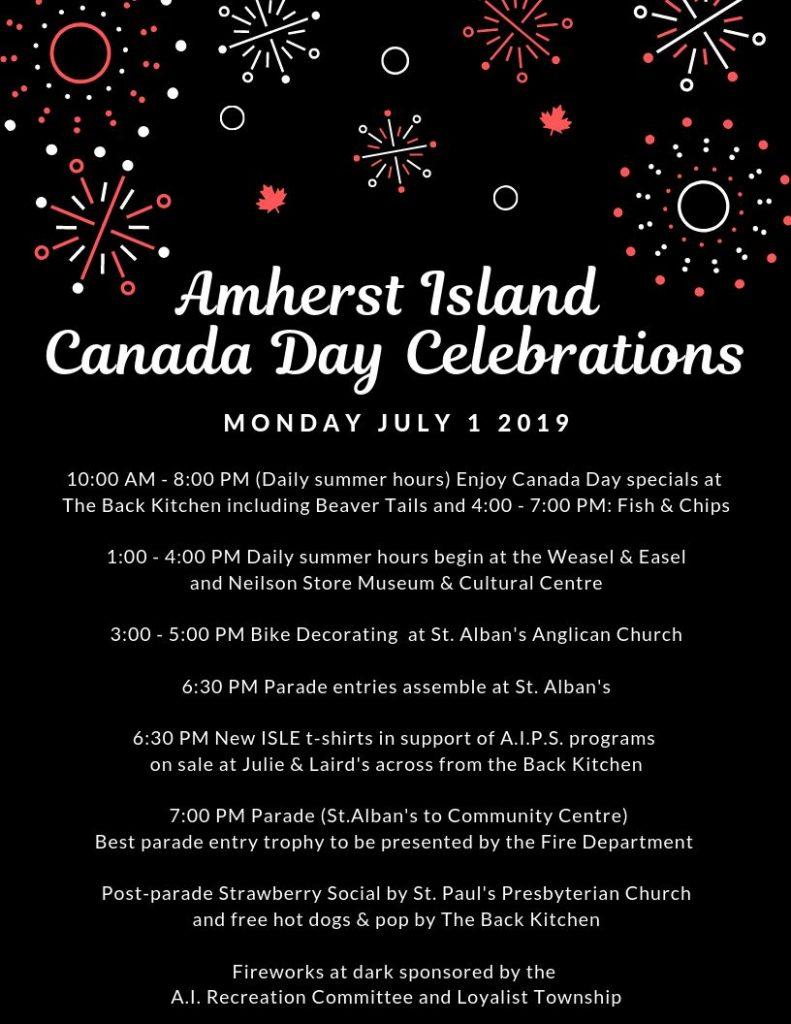 Canada Day On Amherst Island @ Amherst Island Community Centre