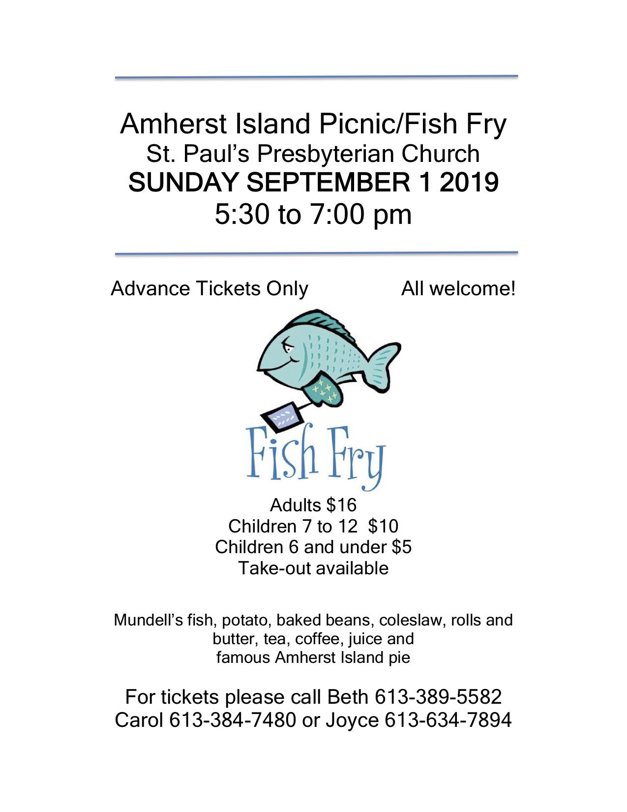 Fish Fry @ St. Paul's Presbyterian Church