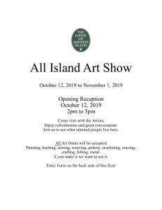 All Island Art Show @ The Lodge on Amherst Island