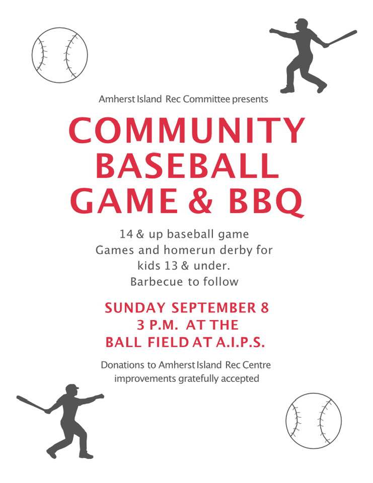 Community Baseball Game and BBQ @ Ball Field at the AI Community Centre