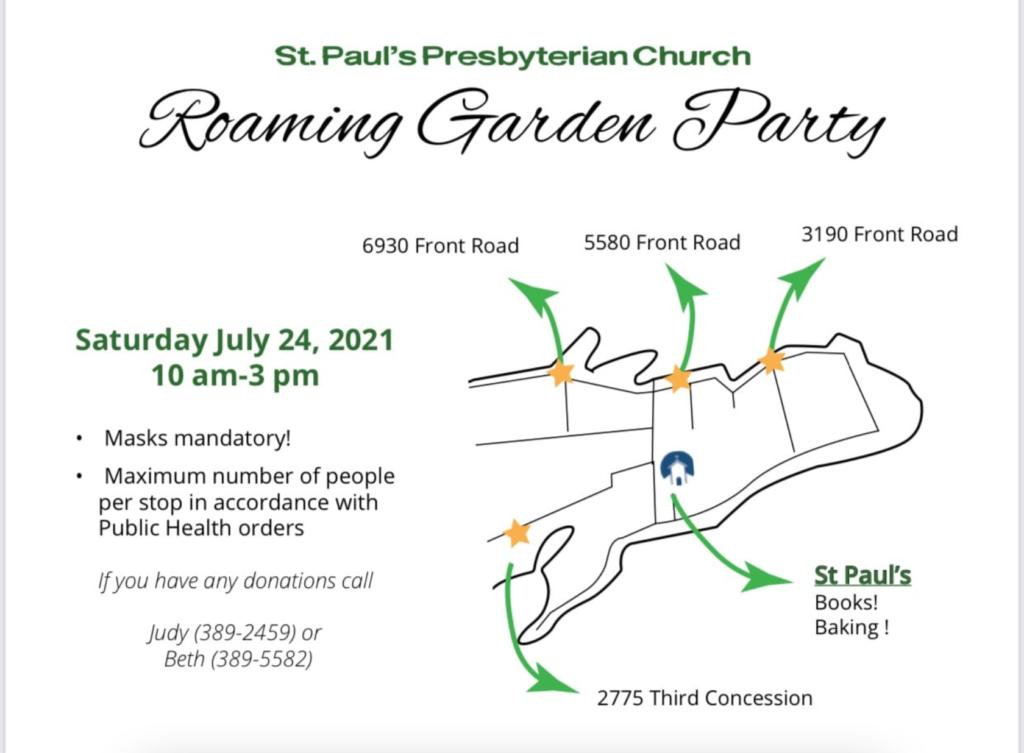 St. Paul's Roaming Garden Party @ Various